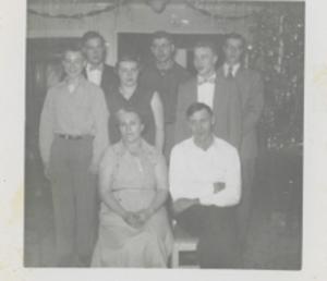 Vivian and Fred Sr. Back: Wally, Shirley DonBack: Bernie, Fred  Jr., Reggie