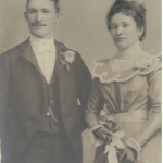 John and Anna on their wedding day.