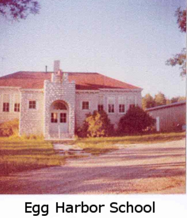 Egg Harbor School in the early 1970s, not long before it was razed.